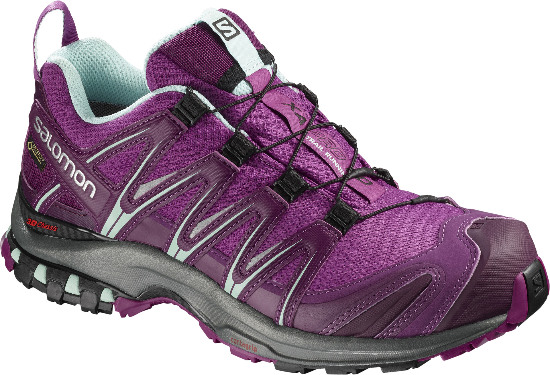 Salomon XA Pro 3D GTX Chaussures running Femme, hollyhockdark purpleeggshell blue